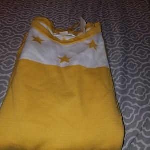 Cj banks, drawstring sweater with stars, nwt